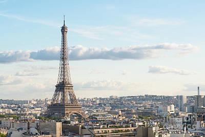 Paris Skyline Royalty-Free and Rights-Managed Images - Paris Roofs and Tower by Anastasy Yarmolovich