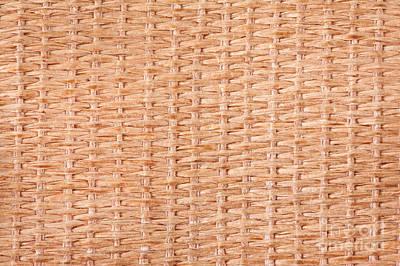 Beige Interlace Wooden Texture Art Print