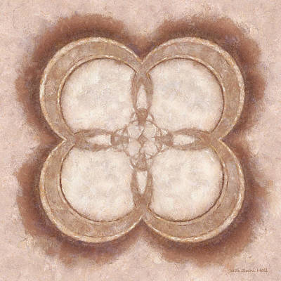 Digital Art - Beige Mandala by Judi Suni Hall