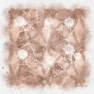 Digital Art - Beige Wildflowers by Judi Suni Hall