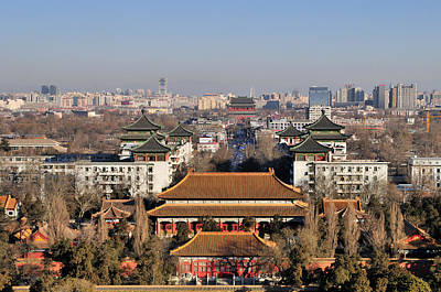 Beijing Photograph - Beijing Central Axis Skyline, China by Huang Xin