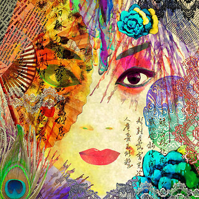 Beijing Opera Girl  Art Print by Stacey Chiew