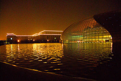Photograph - Beijing Opera House  by Larry Moloney