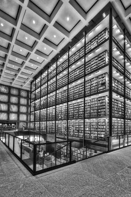 Photograph - Beinecke Rare Book And Manuscript Library Bw by Susan Candelario