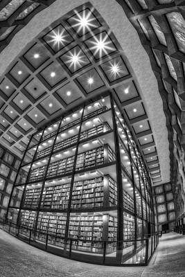 Photograph - Beinecke Rare Book And Manuscript Library II Bw by Susan Candelario