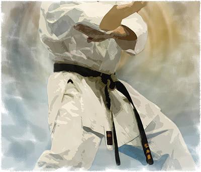 Karate Digital Art - Being A Black Belt by Deborah Lee
