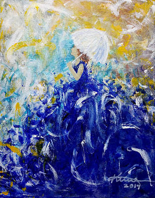 Painting - Being A Woman 10 - In A Fairytale Dream by Kume Bryant
