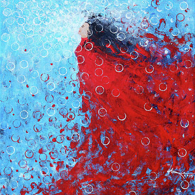 Being A Woman 6 - In Water Art Print by Kume Bryant