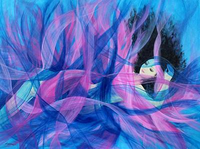 Painting - Being A Woman 9 - Underwater by Kume Bryant