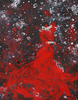 Painting - Being A Woman No11 - The Dance by Kume Bryant