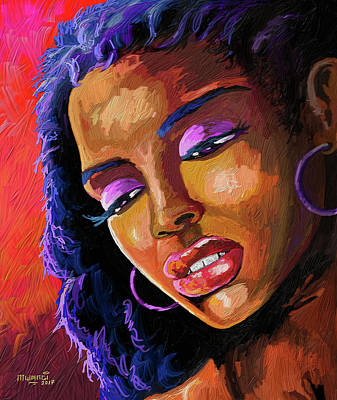 Painting - Being by Anthony Mwangi