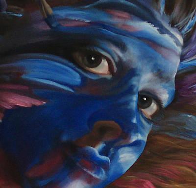 Being Art Zoomed Closeup Art Print