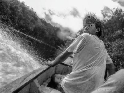 Photograph - ...being Followed On The Churun River In Venezuela.... by Paul Vitko