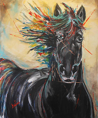Painting - Being Hue Mane by Lucy Matta - lulu