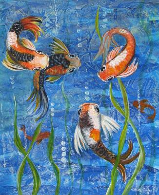 Being Koi Art Print by Martha Ayotte