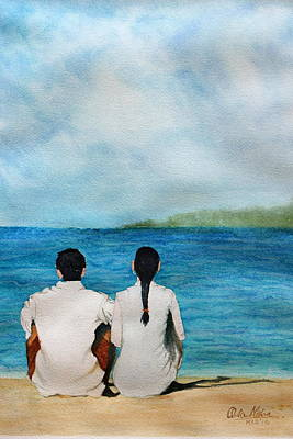 Being Together Art Print by Ankur Mishra