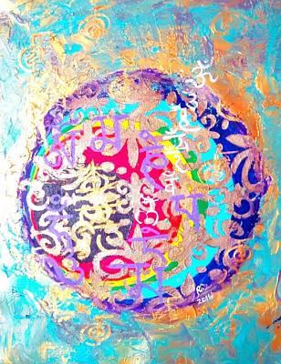 Beingness Emergence From The Black Hole Art Print by Rizwana Mundewadi