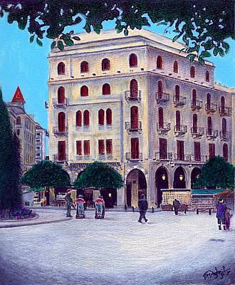 Painting - Beirut - Centre Ville by Joe Dagher