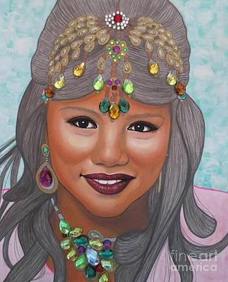 Painting - Bejeweled Beauties - Bindiya by Malinda Prudhomme