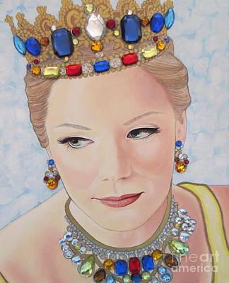 Painting - Bejeweled Beauties - Brittany by Malinda Prudhomme
