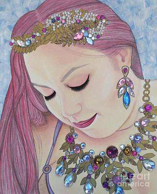 Painting - Bejeweled Beauties - Caitlin by Malinda Prudhomme