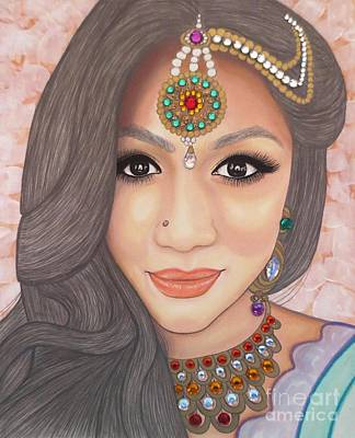 Painting - Bejeweled Beauties - Chandni by Malinda Prudhomme