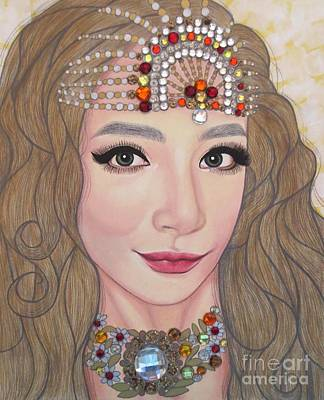 Painting - Bejeweled Beauties - Lucy by Malinda Prudhomme