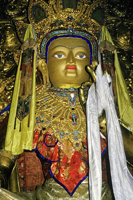 Tibetan Buddhism Photograph - Bejeweled Buddha by Michele Burgess