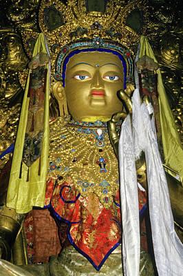 Photograph - Bejeweled Buddha by Michele Burgess