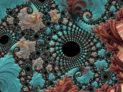 Digital Art - Bejeweled Fractal by Bonnie Bruno