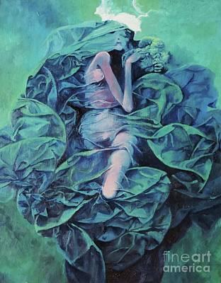 Zdzislaw Beksinski Painting - Beksinski- Blue Woman by Natalie Gregorarz