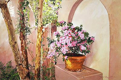 Ferns Painting - Bel-air Azaleas by David Lloyd Glover