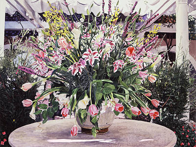 Lilies Royalty-Free and Rights-Managed Images - Bel-air Bouquet by David Lloyd Glover