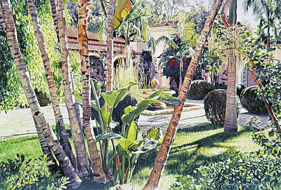 Painting - Bel-air Fountain by David Lloyd Glover