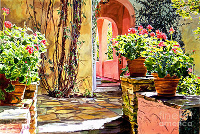 Painting - Bel-air Geraniums by David Lloyd Glover