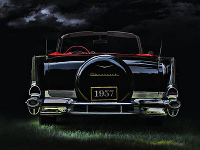 Chrome Wall Art - Digital Art - Bel Air Nights by Douglas Pittman