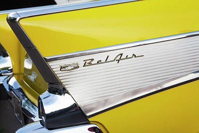 Art Print featuring the photograph Bel Air Tail Fin by Toni Hopper