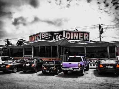 Photograph - Bel-loc Diner by Chris Montcalmo