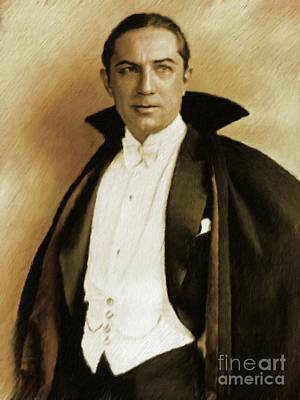 Musician Royalty-Free and Rights-Managed Images - Bela Lugosi as Dracula by Mary Bassett