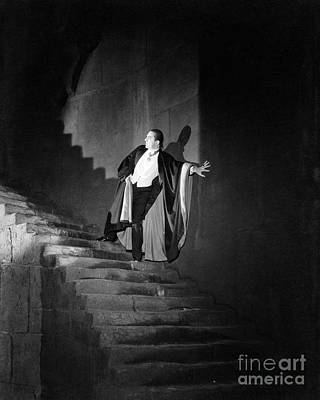 Photograph - Bela Lugosi Dracula Descends The Stairs by R Muirhead Art