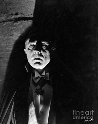 Photograph - Bela Lugosi Dracula Hovers In The Shadows by R Muirhead Art
