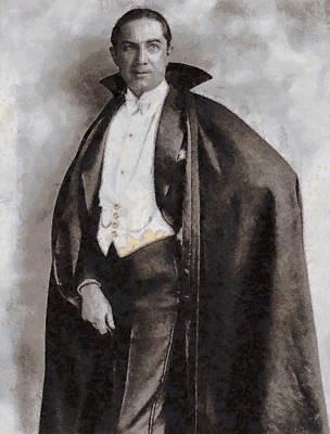 Bela Lugosi Painting - Bela Lugosi Hollywood Actor by John Springfield