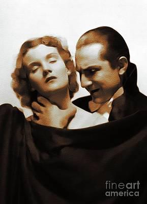 Bela Lugosi Painting - Bela Lugosi, Hollywood Legend by Mary Bassett