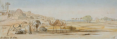 Drawing - Belbeis by Edward Lear