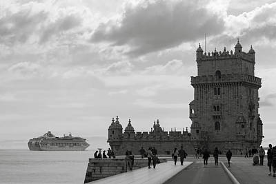 Photograph - Belem And The Boat by Lorraine Devon Wilke