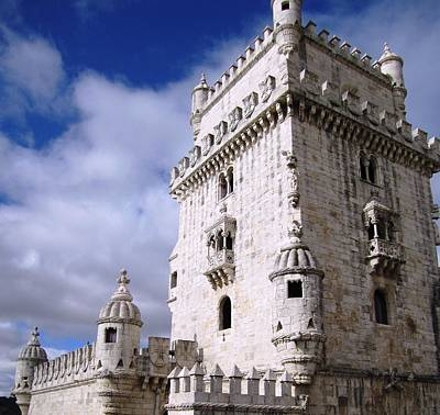 Photograph - Belem Tower Castle V Lisbon Portugal by John Shiron