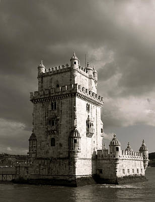 Photograph - Belem Tower In Clouds by Lorraine Devon Wilke