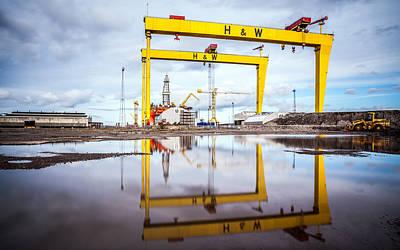 Photograph - Belfast Shipyard by George Pennock