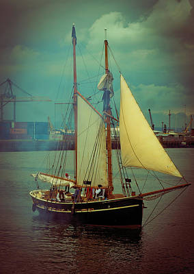 Photograph - Belfast Tall Ships by Alan Campbell