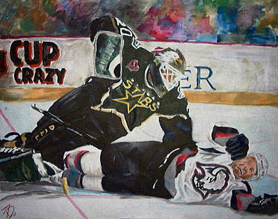 Hockey Painting - Belfour by Travis Day